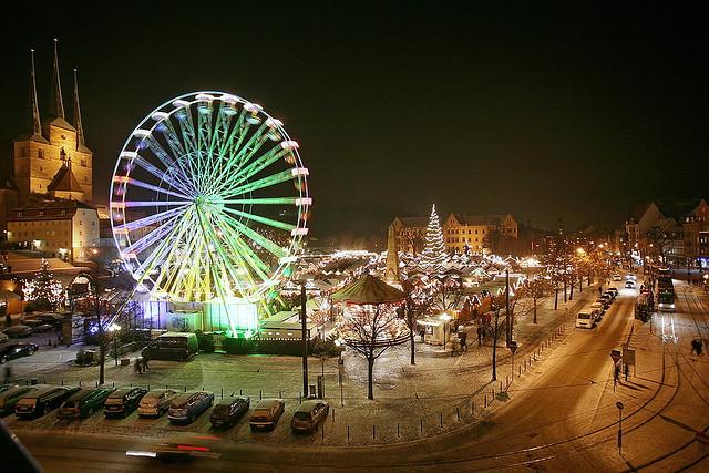 Weihnachtsmarkt Erfurt, foto v uwe driesel
